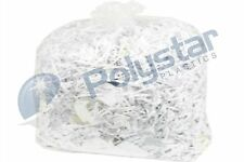 Clear heavy duty bin bags 18 x 29 x 39