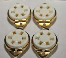 US style Gold 310A 42 UX6 6pin New Ceramic Tube Sockets x4 ham audio