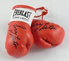 Autografiada Mini Guantes De Boxeo Sonny Liston