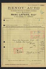 """BORDEAUX (33) ACCESSOIRES AUTOMOBILE """"Gaston COURSIMAULT / Marc LAFAYE"""" 1930"""