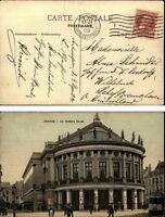 ANVERS Antwerpen Belgien 1908 Le Theatre Royal Theater Carte Postale (nach Lehe)