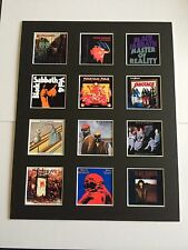 """Black Sabbath 14"""" by 11"""" LP Discography Covers Picture Mounted Ready to Frame"""