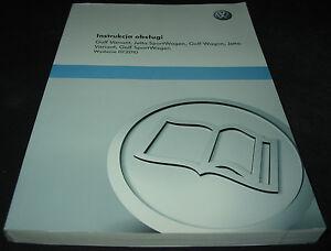 Betriebsanleitung Handbuch VW Golf VI 6 Variant Jetta Instrukcja Obslugi 04/2010