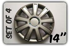 """Conjunto de 4 14"""" rueda adornos para encajar Opel Agila Corsa Vectra + regalo Gratis #9"""