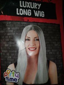 Long Grey Silver Wig NEW #wig straight hair wig