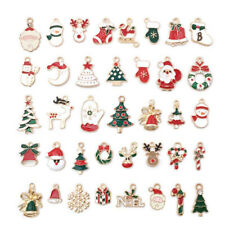 38Pcs Mixed Christmas Charms Enamel Pendants DIY Bracelet Jewelry Making Cra.zh