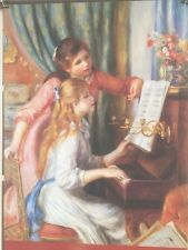 FINE ART LITHOGRAPH: Two Young Girls At The Piano By Renoir 24 X 36