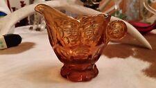 Fenton Art Glass Amber Thumbprint Creamer