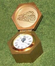 BNSF Railway Brass Chelsea Waterfall Paperweight Desk Clock