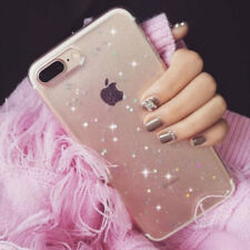 For iPhone XS Galaxy Case Shockproof Glitter Star Clear Slim Soft Silicone Cover