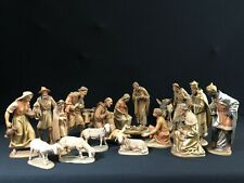 """~*~. 20 Pc Wood Carved Anri Kuolt Nativity Set 6 """" Scale — Gorgeous!~*~"""