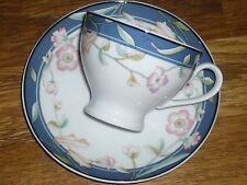 1 Kaffeetasse mit Untertasse   Eschenbach  blumen  blaue Rand