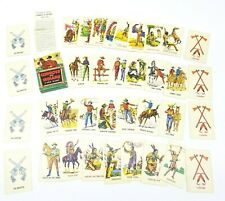 Vintage 1940s Childrens Card Game Ed U Cards Cowboys And Indians School Learning