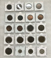 Collection Of 20 China Cents,10 & 20 Cash, 1 Jiao-3 Silver+17 Copper Coins