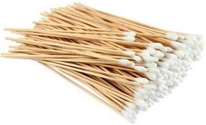 300 pezzi Cotton fioc Batuffoli di cotone biodegradabili con manico in legno...