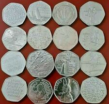 More details for 50p coins fifty pence,olympics,beatrix potter,commemorative,kew coin