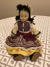 Vintage Ethnic Molded Face Cloth Doll