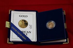 1992 American Gold Eagle PROOF $5 Gold Coin - 1/10th OZ