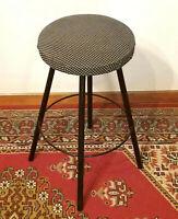 Sedile Sgabello tubolare in metallo colore nero Art Dèco Stile Retrò Vintage