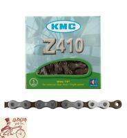 """KMC Z410 1/2"""" X 1/8"""" 112L FIXED CRUISER SINGLE SPEED SILVER/BROWN BICYCLE CHAIN"""