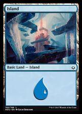Island (192/199) NM X4 Hour of Devastation Basic Land Common MTG