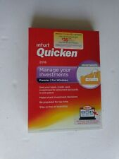 Intuit Quicken Premier 2016 For Windows (New! Factory sealed retail DVD Case)