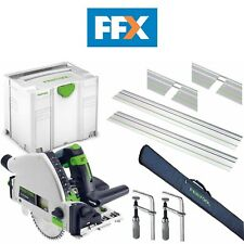 Festool TS55KIT4 240v Immersione Sega 2 x Barre 2 x Connettori 2 x Morsetti