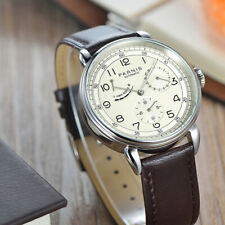 Parnis Men Watch Power Reserve Indicator Automatic Mechanical Casual Wristwatch