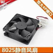 For 8cm 8025 chassis power radiator fan8CM silent desktop fan12V oil bearing fan