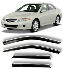 Chrome Trim Window Visors Guard Vent Deflectors For Acura TSX Sd 2003-2007