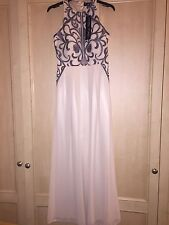 BNWT Little Mistress Asos Cream Grey Embroidered Maxi Dress Brand New size 8