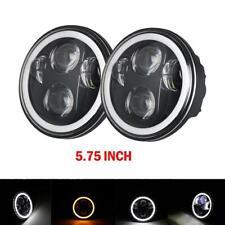 "2pcs 5.75 5-3/4"" inch round LED Headlight for Chevy GMC Corvette C1 C2 1963-1982"
