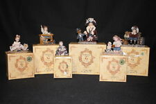Lot of 6 Boyds YESTERDAY'S CHILD Dollstone Collection Figurines w/Boxes & CoA