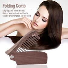 1pc Pocket Moustache Comb Folding Beard Comb Wood Anti-static Comb NEW - S