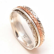 Solid 925 Sterling Silver Spinner Ring Meditation ring statement ring Size st959