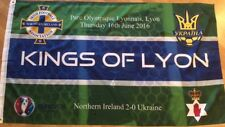 'KINGS OF LYON' N. IRELAND vs UKRAINE EURO 2016 FLAG - 5' x 3'