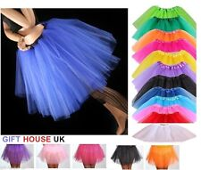 High Quality Ladies Girls Tutu Skirt Fancy Skirts Dress Up Hen Party 3 Layers B5