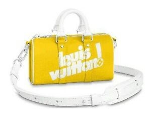 Louis Vuitton Keepall XS Yellow Virgil Abloh LV Authentic Brand New