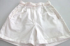 AS IS Vintage NAN SPORT White FITTED HIGH WAIST Pleated CUFFED SHORTS/Size 5/6