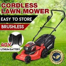 Matrix 40V Lawn Mower Cordless Lawnmower 2x1.5ah Lithium Battery&Charger