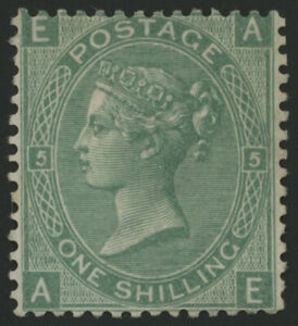 SG117 Pl5 1s Green, AE, fine lightly mounted mint