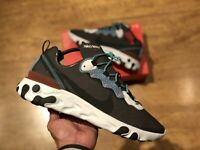 NIKE REACT ELEMENT 55 GREY WHITE MENS TRAINERS SIZE UK11 EUR46 US12 NEW 87