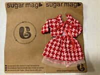 Sugar Mag Red checkers dress set blythe 1/6 scale Riley Betsy Licca Azone momoko