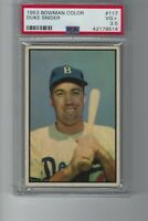 1953 Bowman Color #117 Duke Snider PSA 3.5