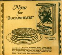 """Advertising Aunt Jemima """"Now for Buckwheats"""" Flour """"I'se in Town Honey"""" 1924"""