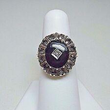 10K Yellow Gold Vintage Black Onyx Ladies Ring - Size 6.75 Estate Jewelry  #8769