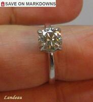 1.14 ct White Yellow Diamond Silver Ring