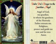 Padre Pio's Prayer to the Guardian Angel Trust Enlighten Protect Guide HC9-471E
