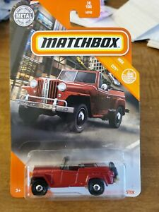 2021 Matchbox Red 1948 Willys Jeepster