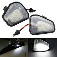 2x CAN-bus LED Under Side Mirror Puddle Lights #V For VW CC EOS Passat Scirocco
